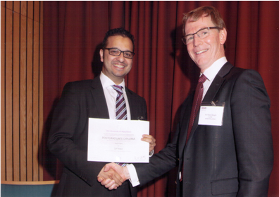Mr Naqui receives BSSH Diploma Award London