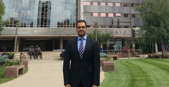 Mr Naqui visits The Mayo Clinic, Rochester, USA