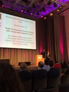 First Prize at BSSH Autumn Congress, Edinburgh