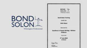 Bond Solon Excellence Course July 2018