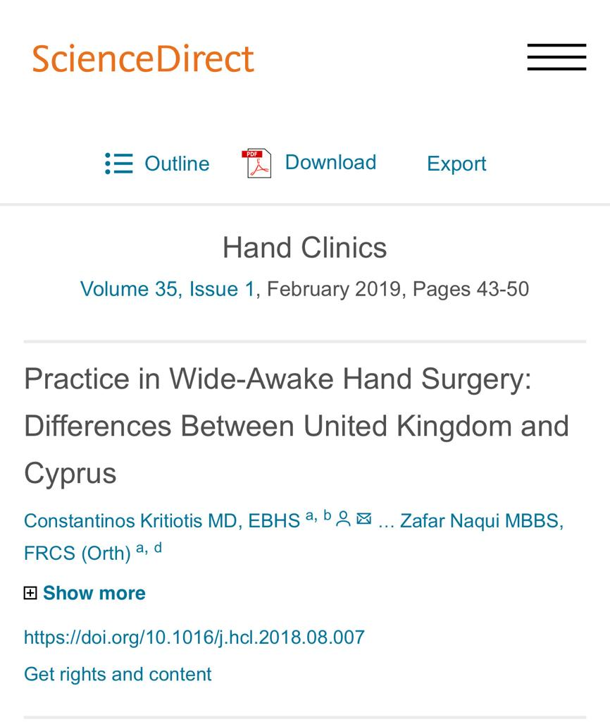Practice in Wide-Awake Hand Surgery